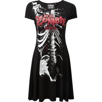 Damen Kleid KILLSTAR - Rob Zombie - Foxy Gebeine Schlittschuhläufer - SCHWARZ