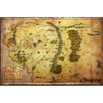 Poster The Hobbit - Map - GB Posters