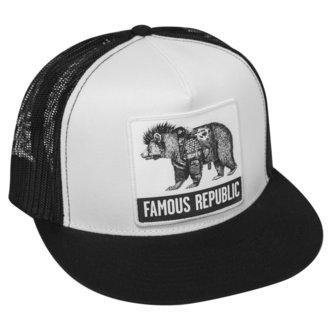Cap FAMOUS STARS & STRAPS - FAMOUS REPUBLIC - SCHWARZ WEISS, FAMOUS STARS & STRAPS