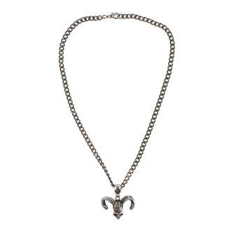 Halskette mit Anhänger Schädel, FALON