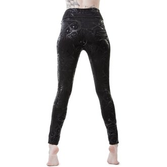 Damen Leggings KILLSTAR - GRAVE - SCHWARZ, KILLSTAR