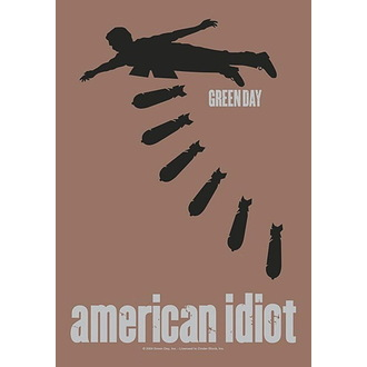Flagge Green Day - American idiot Bombs, HEART ROCK, Green Day