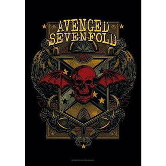 Flagge Avenged Sevenfold - Death Crest, HEART ROCK, Avenged Sevenfold