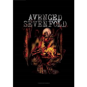 Flagge Avenged Sevenfold - Fire Bat, HEART ROCK, Avenged Sevenfold