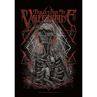 Flagge Bullet For my Valentine - Skeleton, HEART ROCK, Bullet For my Valentine