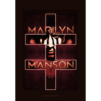 Flagge Marilyn Manson - Double Cross, HEART ROCK, Marilyn Manson