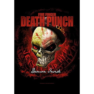 Flagge Five Finger Death Punch - Dapper, HEART ROCK, Five Finger Death Punch