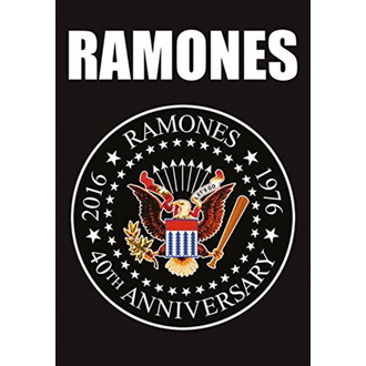 Flagge Ramones - 40th Anniversary Logo, HEART ROCK, Ramones