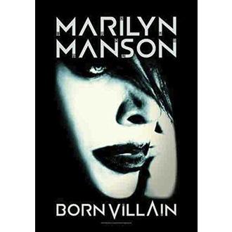 Flagge Marilyn Manson - Born Villain, HEART ROCK, Marilyn Manson