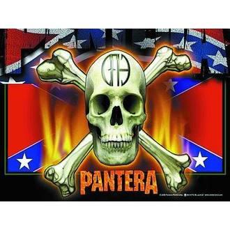 Fahne Pantera - Flag & Skull, HEART ROCK, Pantera