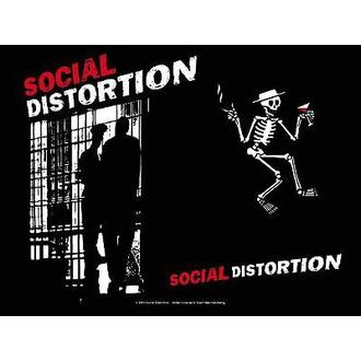 Fahne Social Distortion - Knast, HEART ROCK, Social Distortion