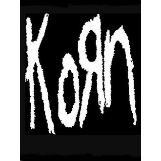 Fahne KORN - Band Logo, HEART ROCK, Korn