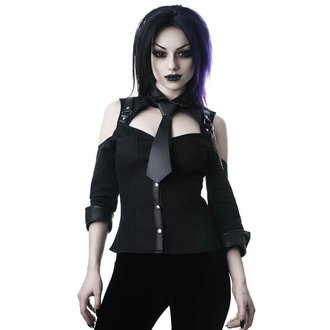 Damen Bluse KILLSTAR - Kalista Teachers Pet - SCHWARZ, KILLSTAR