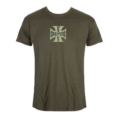 Herren T-Shirt West Coast Choppers - OG CROSS - Solid khaki, West Coast Choppers