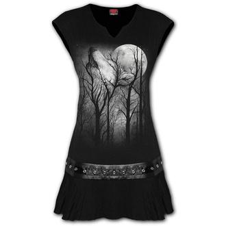 Damen Kleid SPIRAL - FOREST WOLF - Schwarz - E030F108