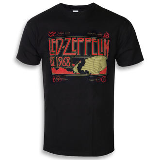 Herren T-Shirt Metal Led Zeppelin - Zeppelin & Smoke Black - NNM, NNM, Led Zeppelin