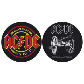 Grammophonmatte (Set mit 2 Stück) AC / DC - FOR THOSE MOUT TO ROCK - HIGH VOLTAGE - RAZAMATAZ, RAZAMATAZ, AC-DC