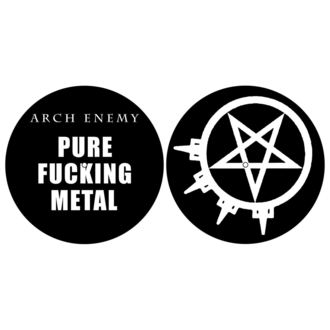 Grammophonmatte (Set mit 2 Stück) ARCH ENEMY - PURE FUCKING METAL - RAZAMATAZ, RAZAMATAZ, Arch Enemy