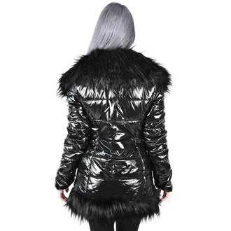 Damen Mantel KILLSTAR - Lucine Puff - SCHWARZ, KILLSTAR