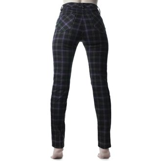 Damen Hose KILLSTAR - Mazzy Lace-Up - TARTAN, KILLSTAR