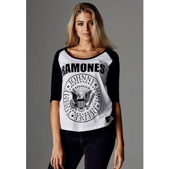 Damen 3/4 Arm Shirt Metal Ramones - URBAN CLASSIC - URBAN CLASSIC, NNM, Ramones