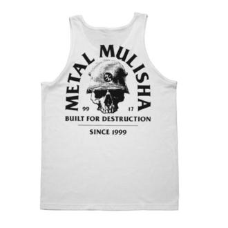Herren Tanktop METAL MULISHA - BUILT - WHT, METAL MULISHA