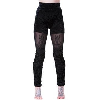 Damen Leggings KILLSTAR - NIGHTSHADE VELVET - SCHWARZ, KILLSTAR