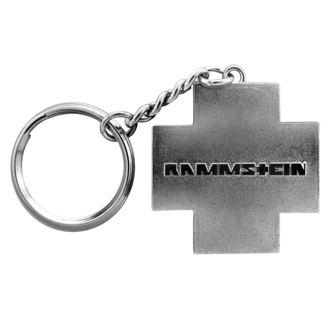 Schlüsselanhänger RAMMSTEIN - Logo Schlüsselanhänger - grau, RAMMSTEIN, Rammstein