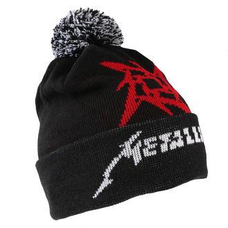 Wintermütze Metallica - Glitch Star Logo - Schwarz Gewebt Bommel, Metallica