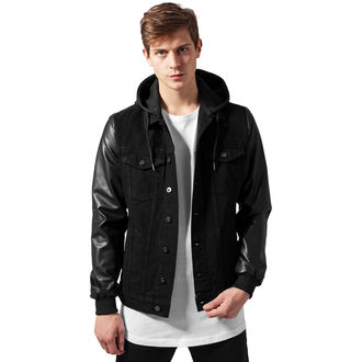 Frühling/Herbst Jacke - Denim leather Imitation - URBAN CLASSICS