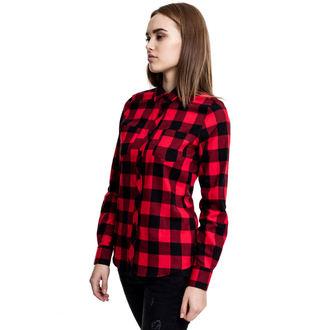 Damen Hemd URBAN CLASSICS - Turnup Checked Flannel, URBAN CLASSICS
