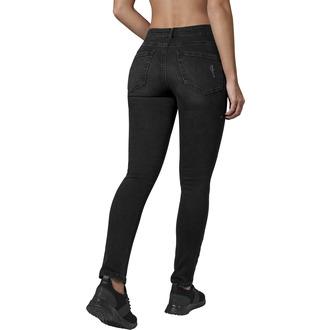 Damen Hose URBAN CLASSICS - High Waist - schwarz gewaschen, URBAN CLASSICS