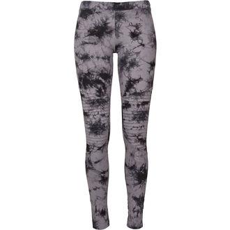 Damen Leggings URBAN CLASSICS - Biker Batik - grau / schwarz, URBAN CLASSICS