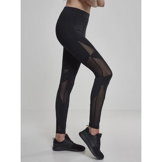 Damen Leggings URBAN CLASSICS - Triangle Tech Mesh - blk / blk, URBAN CLASSICS