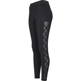 Damen Leggings URBAN CLASSICS - Ribbon Mesh - schwarz, URBAN CLASSICS