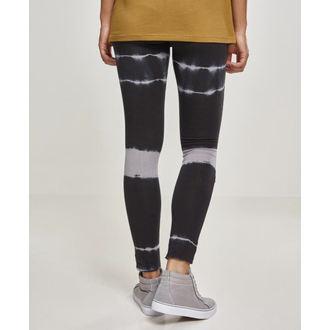 Damen Leggings URBAN CLASSICS - Tie Dye Biker - blk / lt.grey, URBAN CLASSICS