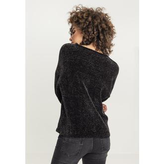 Damen Pullover URBAN CLASSICS - Chenille - schwarz, URBAN CLASSICS