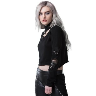 Damen Sweatshirt KILLSTAR - TOURNIQUET - SCHWARZ, KILLSTAR