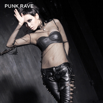 Damen T-Shirt Gothic Punk - MeshMerizer - PUNK RAVE, PUNK RAVE