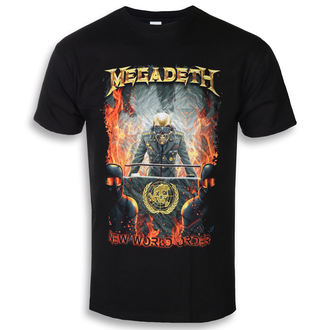 Herren T-Shirt Metal Megadeth - NEW WORLD ORDER - PLASTIC HEAD, PLASTIC HEAD, Megadeth