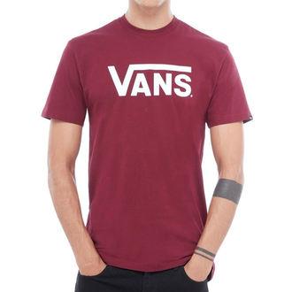 Herren T-Shirt Street VANS - MN VANS CLASSIC - Burgund / Weiß, VANS