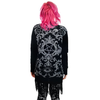 Damen Strickpullover TOO FAST - BAROQUE VICTORIAN GOTHIC PENTAGRAM LONG0FRINGE, TOO FAST