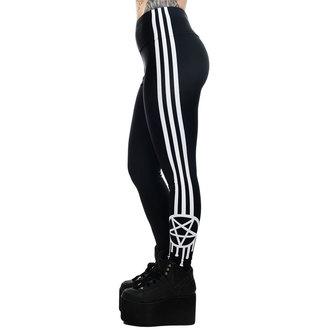 Damen Leggings TOO FAST - SPORTLICH-GRAMM GRAFFITI PENTAGRAMM & STREIFEN HOCH Taille SÜCHTIG, TOO FAST
