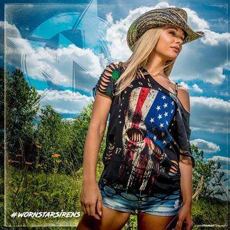 Hut WORNSTAR - Hellrider Black & Natural Rocker Cowboy, WORNSTAR