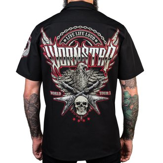 Herren Hemd WORNSTAR - Screaming Eagle - Schwarz, WORNSTAR