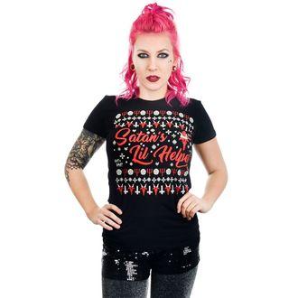 Damen T-Shirt - SATAN'S LIL HELPER EVIL CHRISTMAS BABYDOLL - TOO FAST, TOO FAST