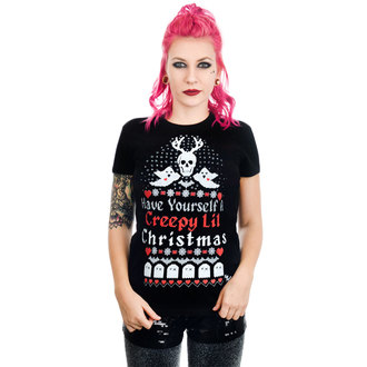 Damen T-Shirt TOO FAST - HAVE YOURSELF A CREEPY LIL CHRISTMAS BABYDOLL, TOO FAST