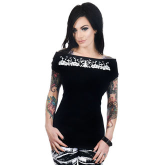 Damen T-Shirt Gothic Punk - FOXY OFF THE SHOULDER - TOO FAST, TOO FAST