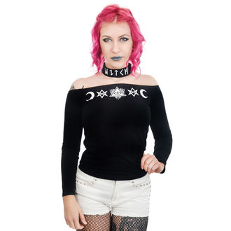 Damen T-Shirt Gothic Punk - TABITHA CHOKER - TOO FAST, TOO FAST