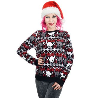Damen Pullover TOO FAST - BLACK CAT & PENTAGRAM XMAS UGLY CHRISTMAS, TOO FAST